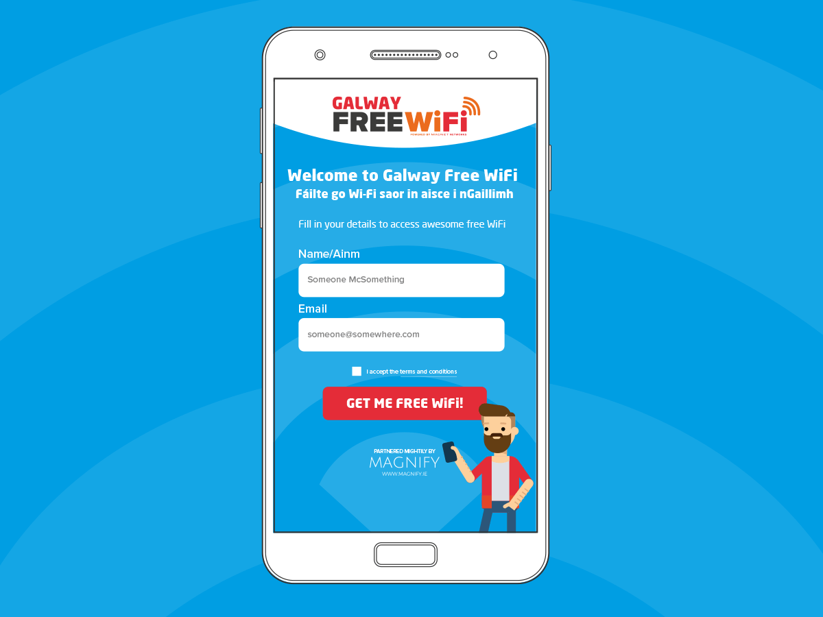 Galway Free WiFi Concept