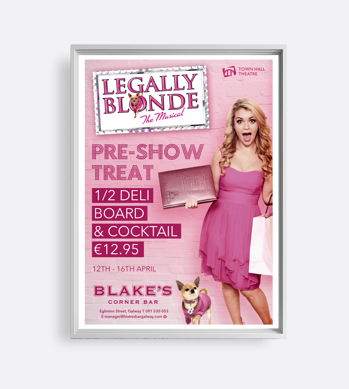 Blake's Bar Town Hall Theatre Promotional A2 poster
