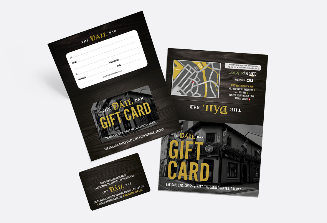 The Dáil Bar gift card and wallet