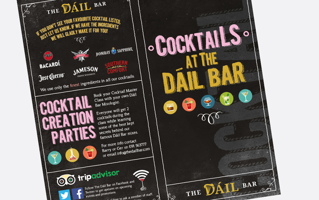 The Dáil Bar cocktail menu