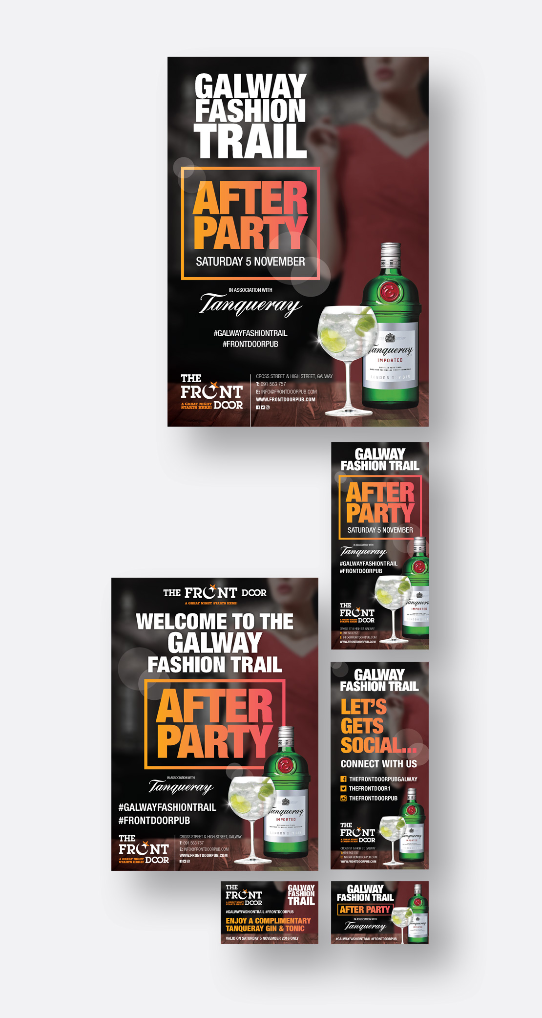 The Front Door Galway Fashion Trail After-Party promotional material