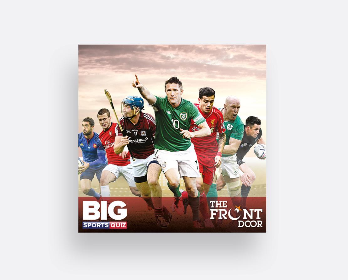 Promotional digital media post for The Front Door Big Sports Quiz
