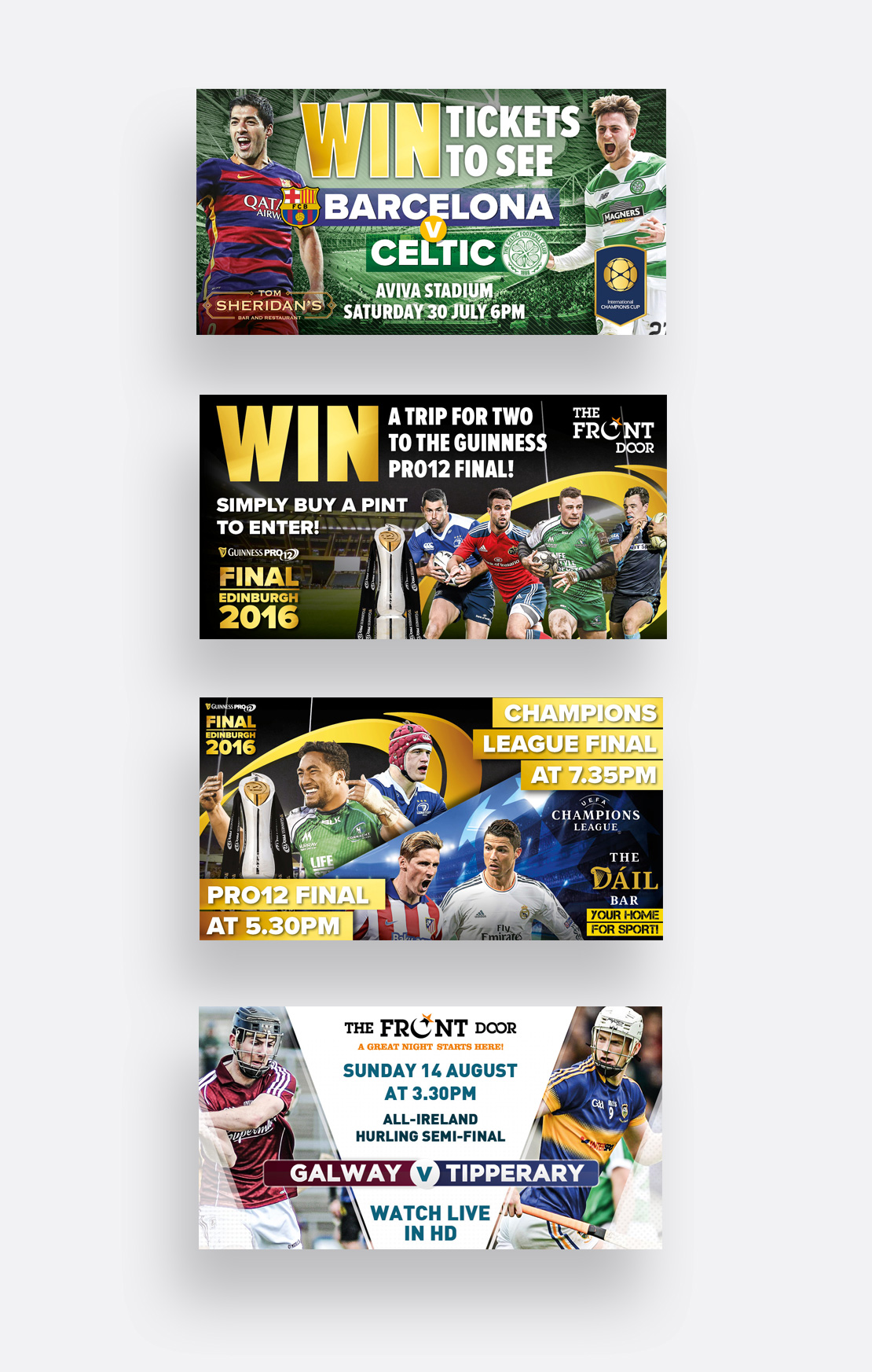Promotional digital media for various sporting events