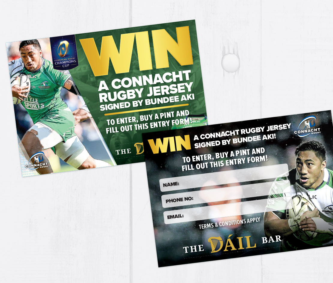 Connacht Rugby A6 competition entry form
