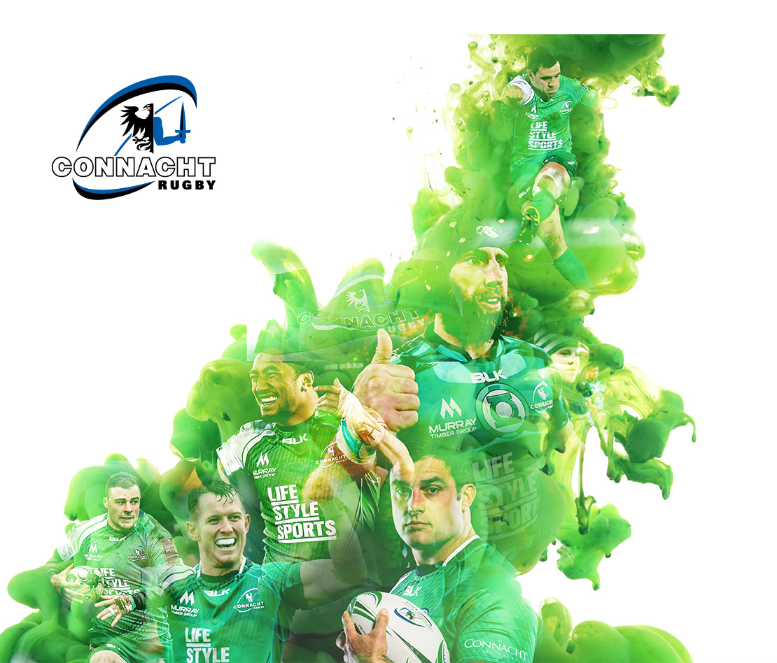 Connacht Rugby support graphic