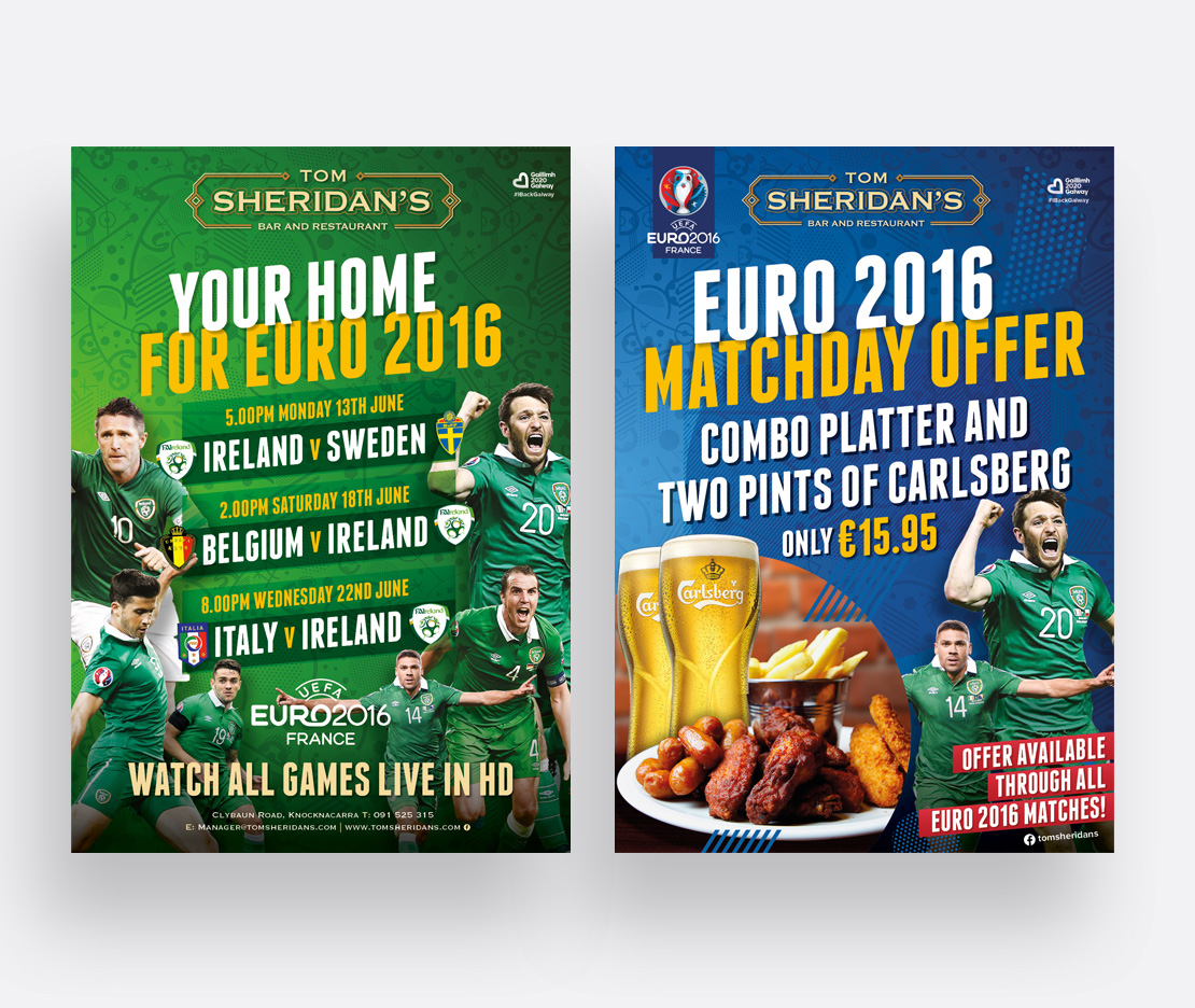 Tom Sheridan's Euro 2016 A2 promotional posters