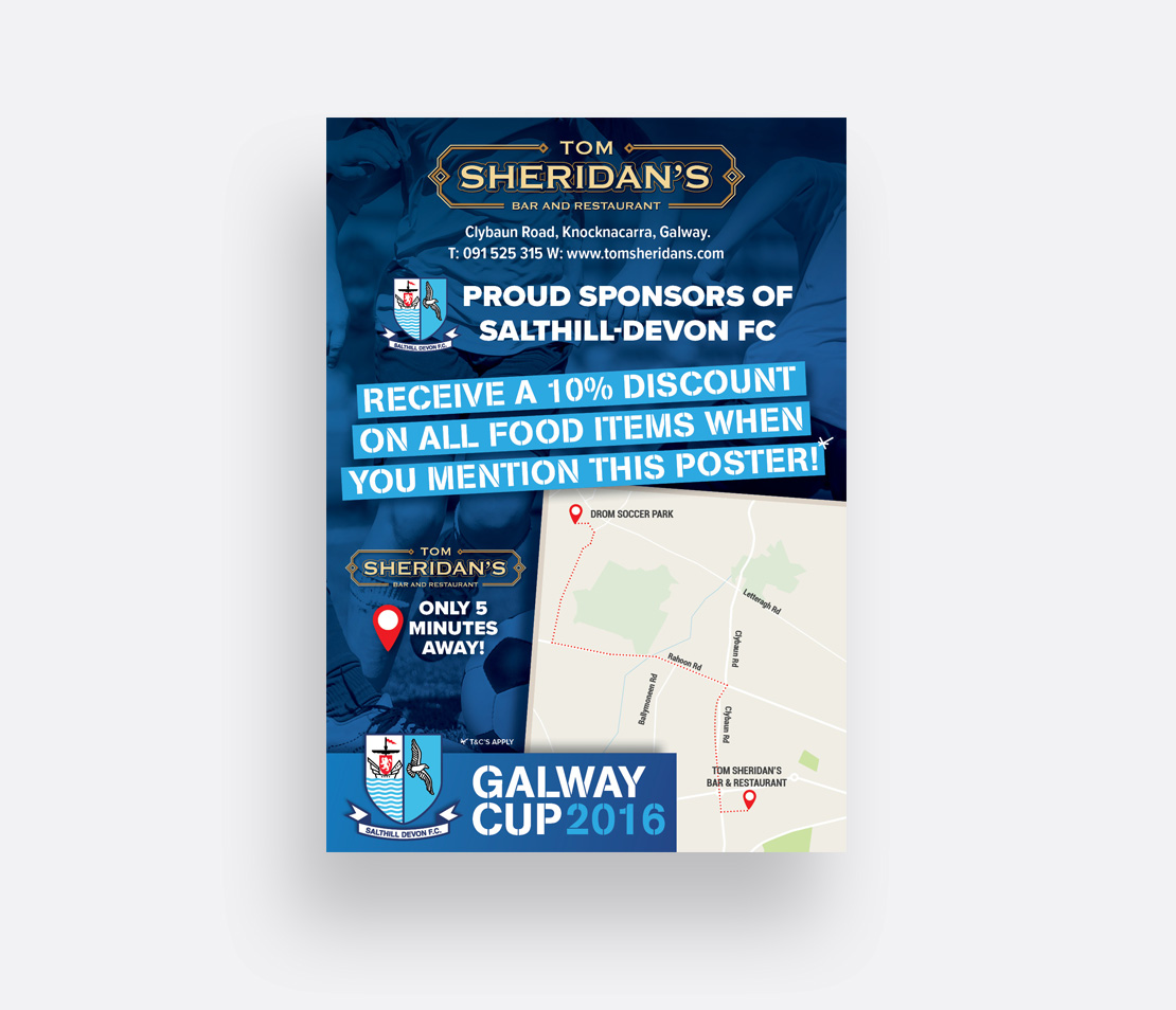 Tom Sheridan's 2016 Galway Cup promotional A2 poster