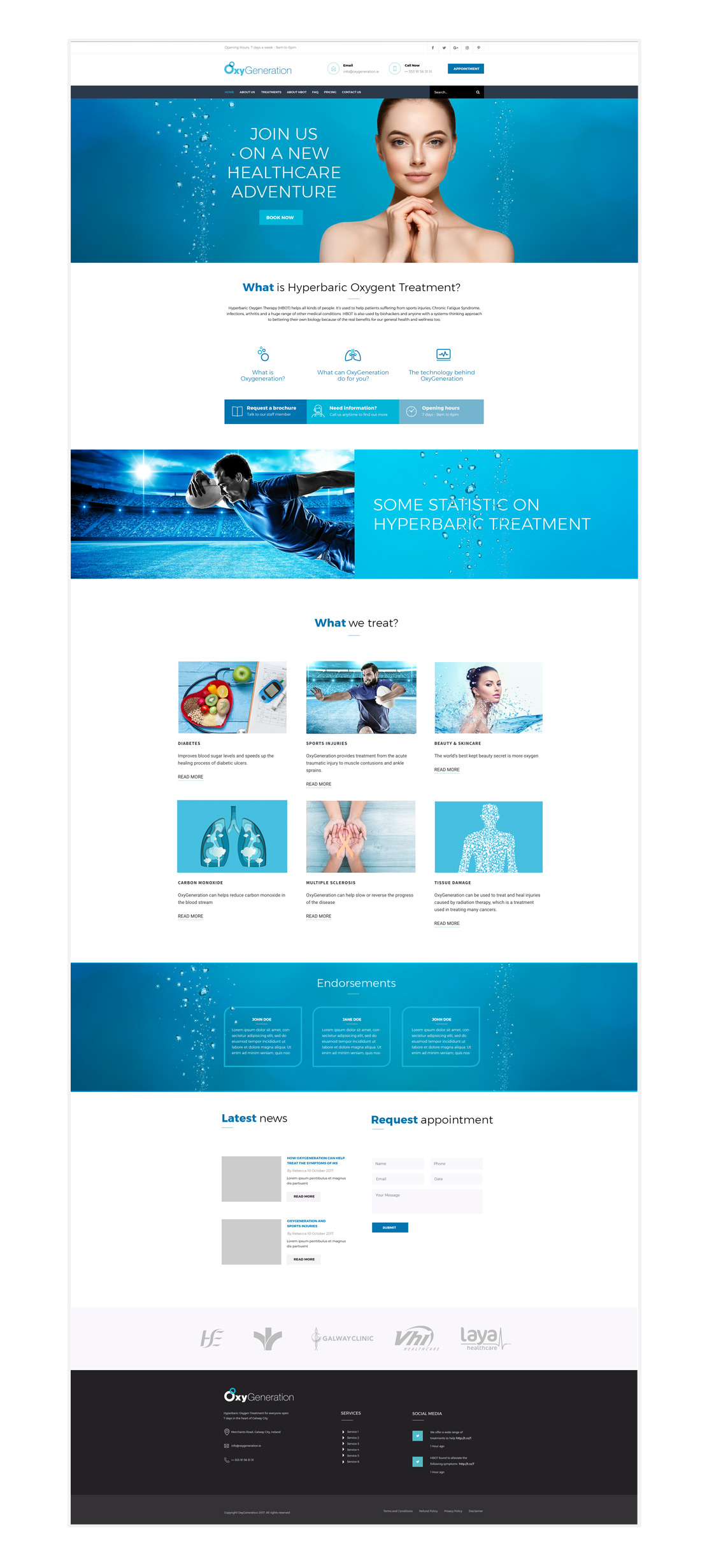 OxyGeneration main page design concept