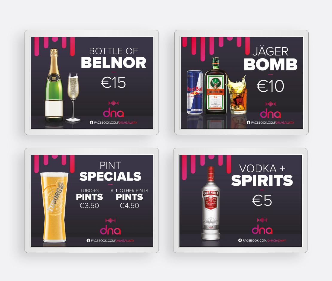 dna digital promotional screen design