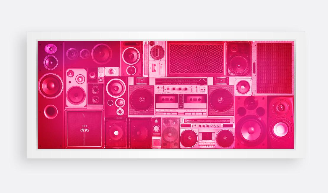 dna 'speakers' lightbox