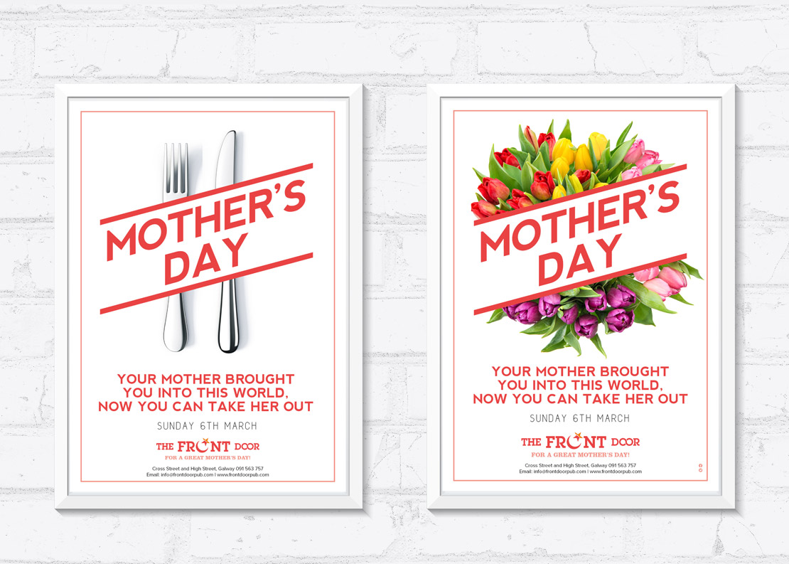 The Front Door Mother's Day promotional A2 posters