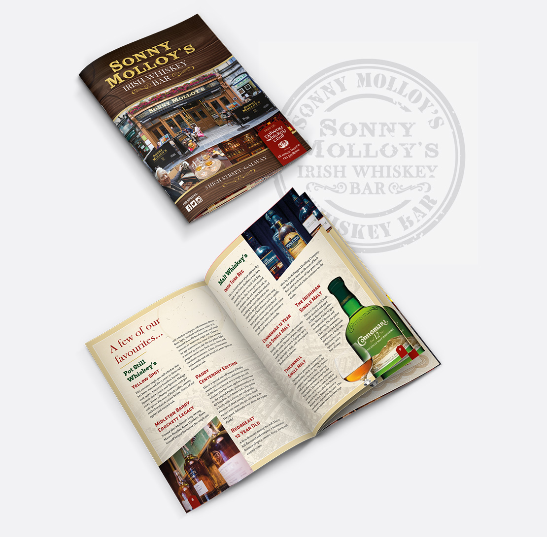 Sonny Molloy's 22-page Whiskey Trail Brochure design