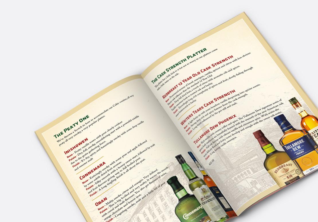 Sonny Molloy's 22-page Whiskey Trail Brochure page design