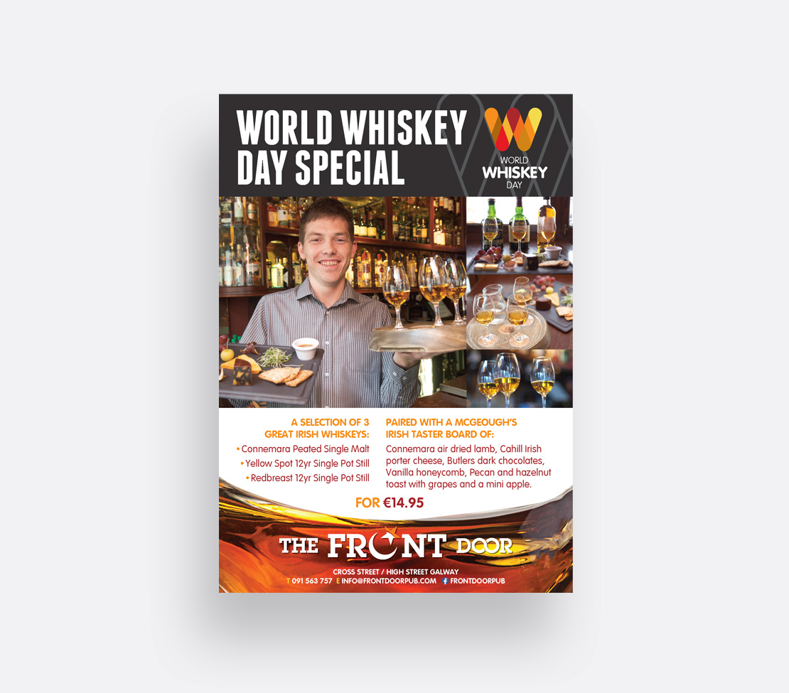 The Front Door World Whiskey Daypromotional A2 poster