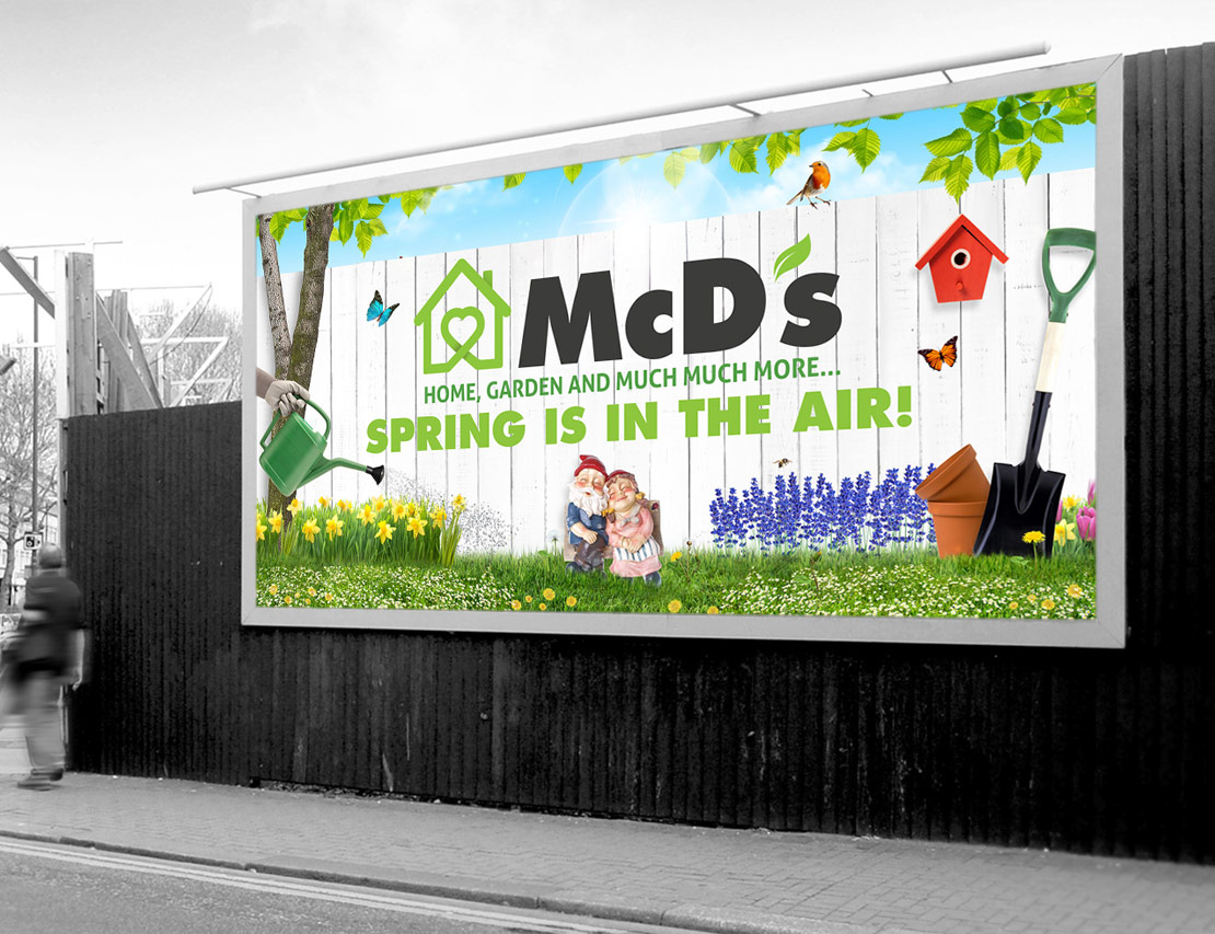 McD's spring promotion billboard