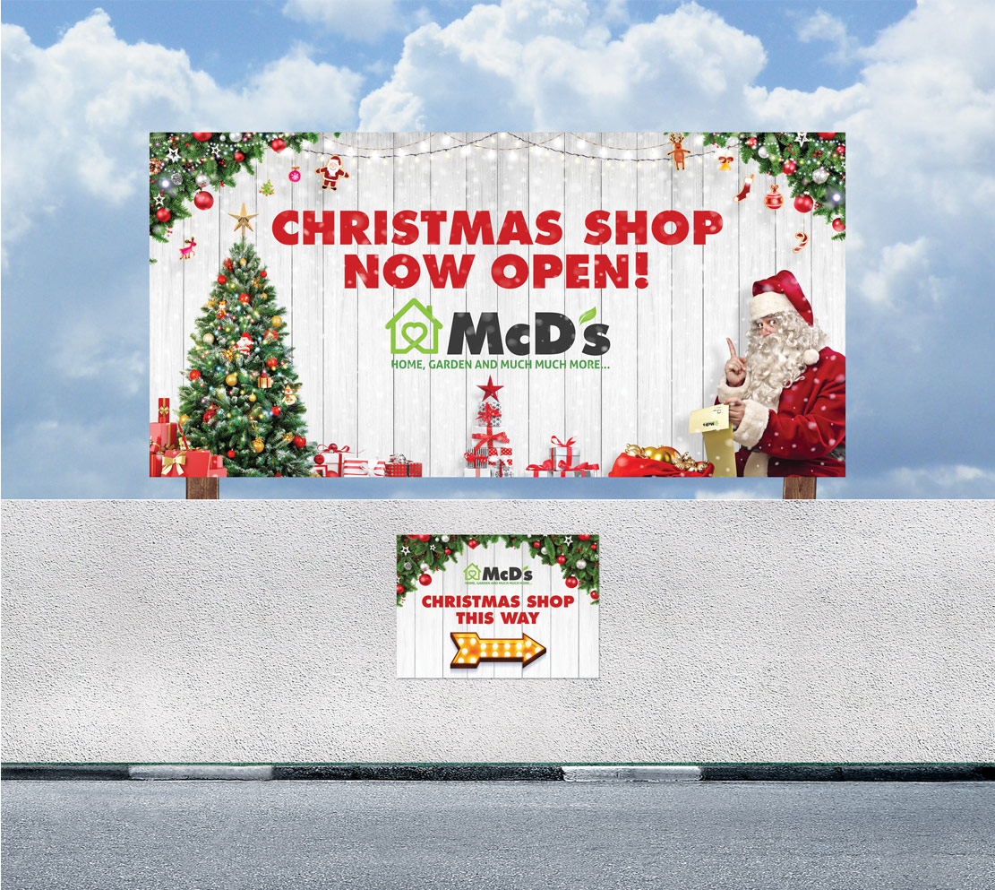 McD's Christmas promotional billboard