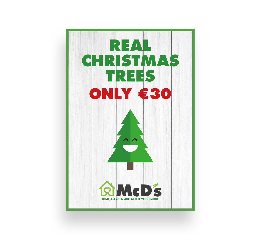 McD's Christmas tree promotional A1 posters