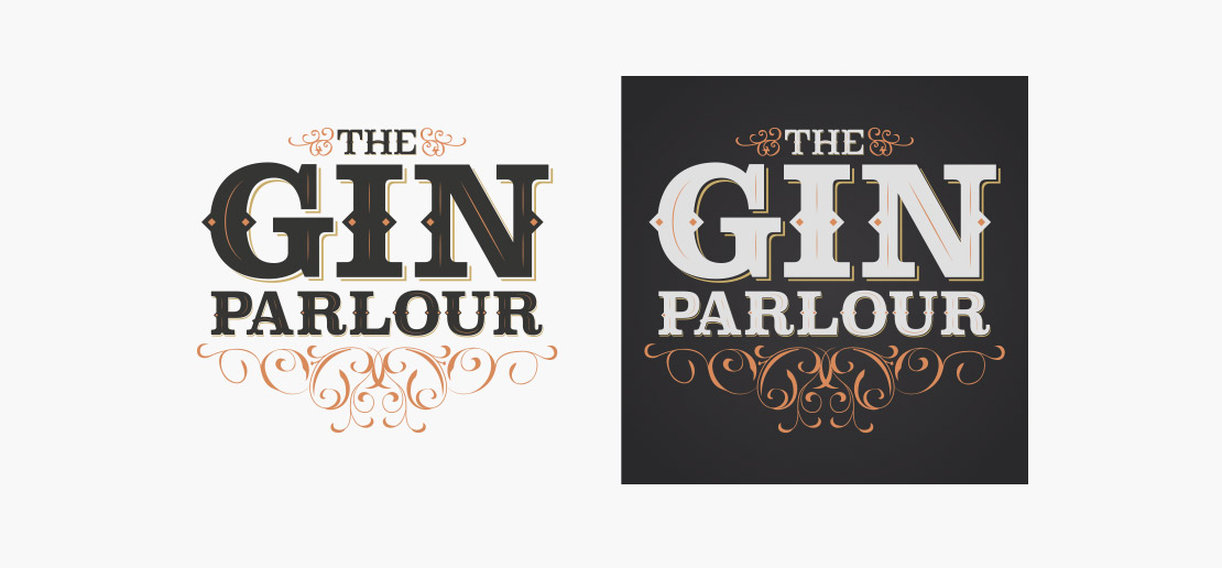The Skeff Gin Parlour logo design