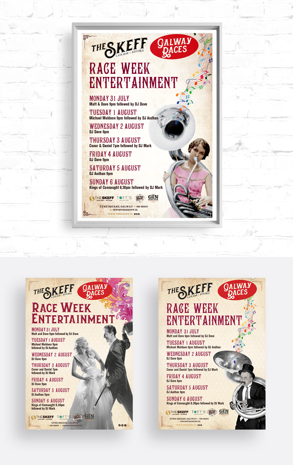The Skeff 2017 Raceweek promotional campaign posters