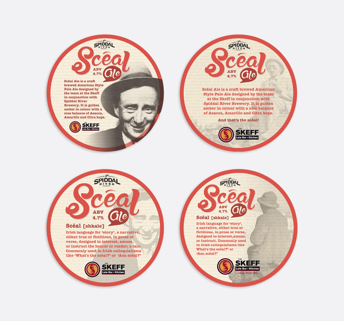 Scéal Ale promotional beermats