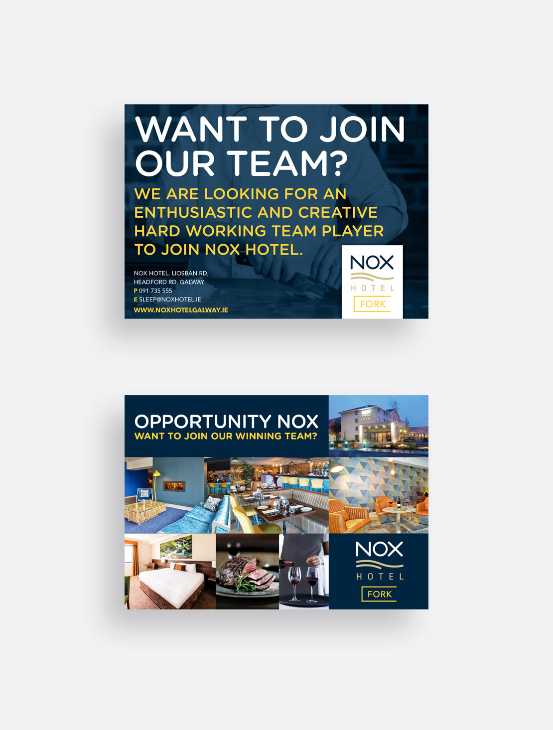 Nox Hotel Christmas Recruitment A5 Postcard