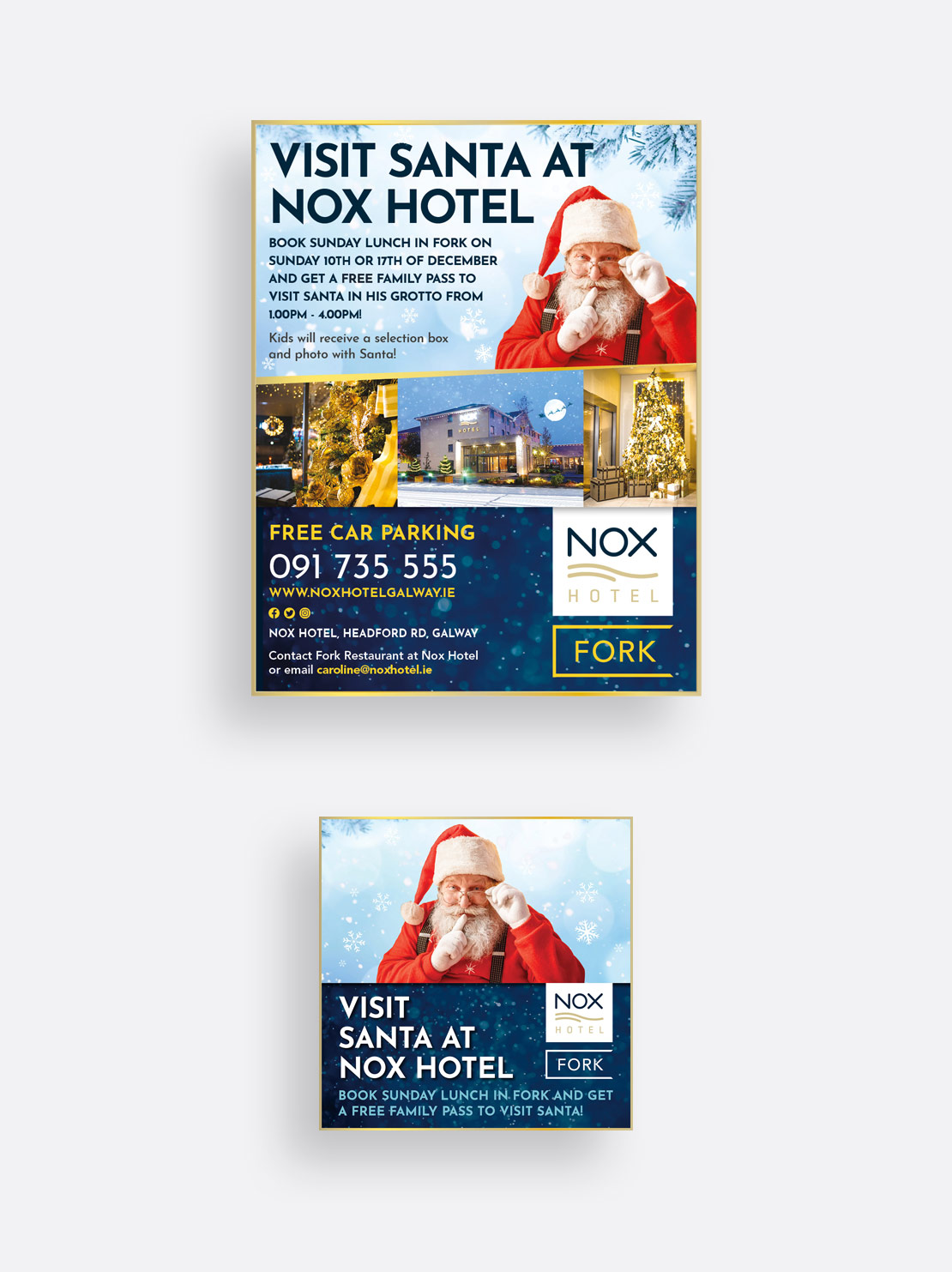 Nox Hotel Christmas 2017 print and social media campaign