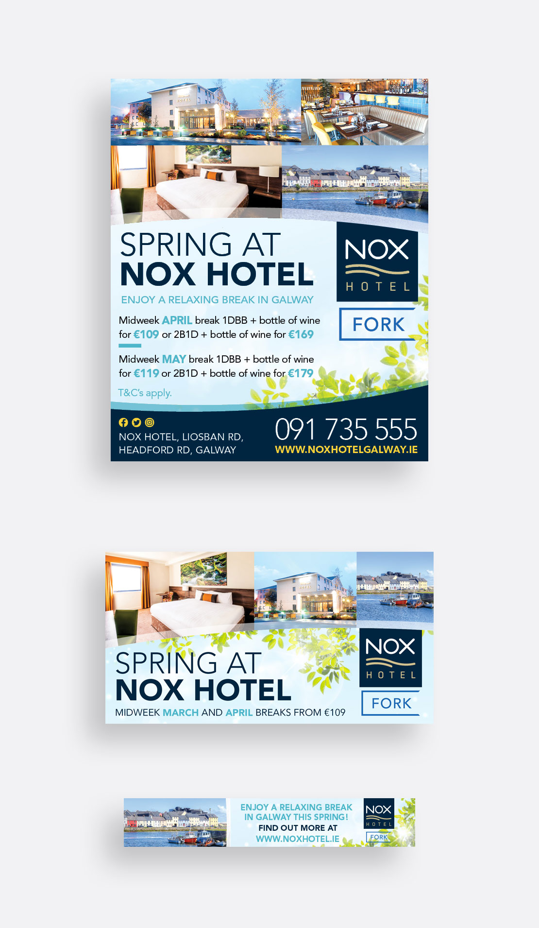 Nox Hotel Christmas Spring print, social media and online advertising campaign