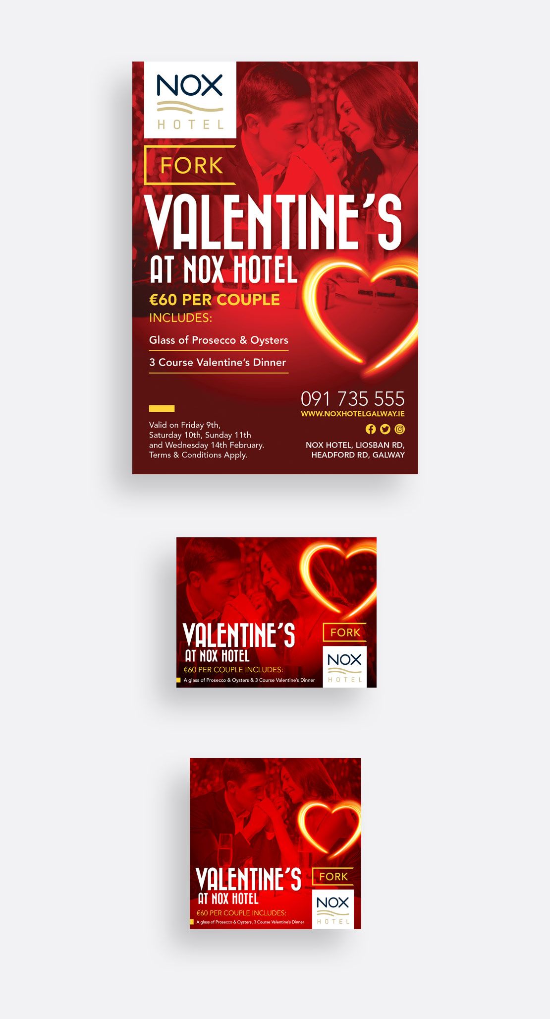 Nox Hotel Valentine's 2017 print and social media campaigns