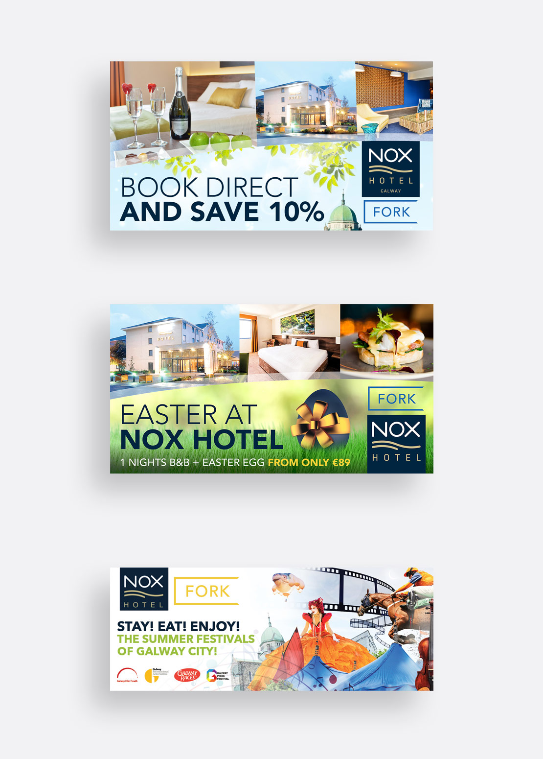 Nox Hotel seasonal social media graphics