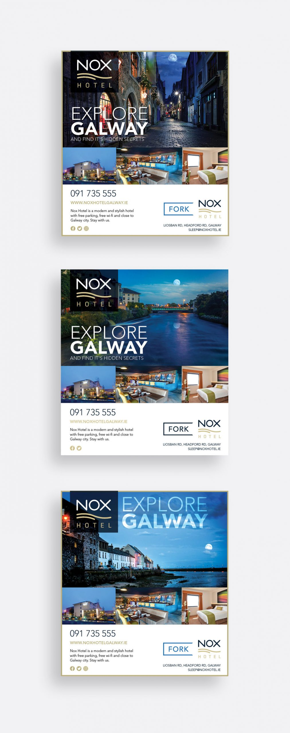 Nox Hotel 'Explore Galway' print campaign