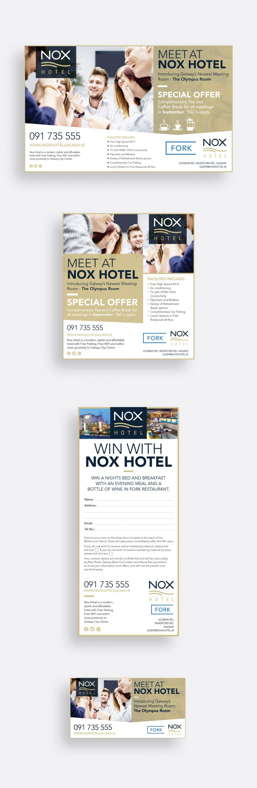 Nox Hotel 'Meet at Nox' print and social media campaign