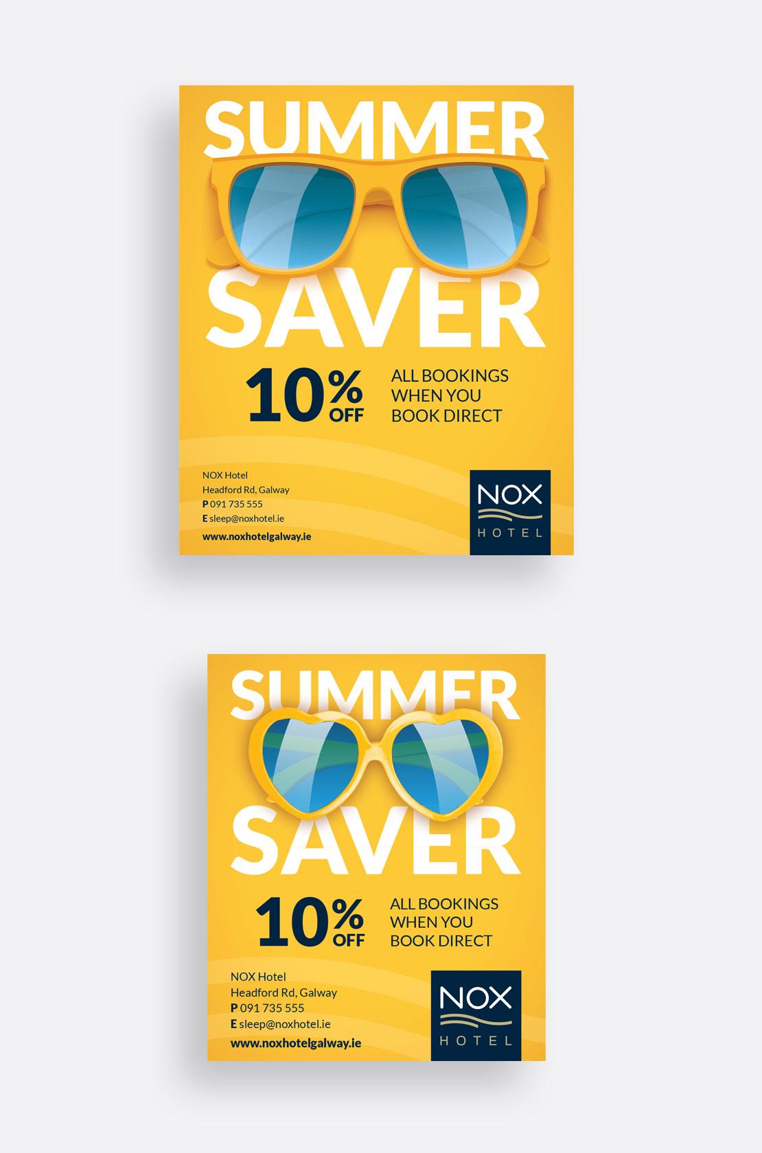 Nox Hotel Summer Print Campaign