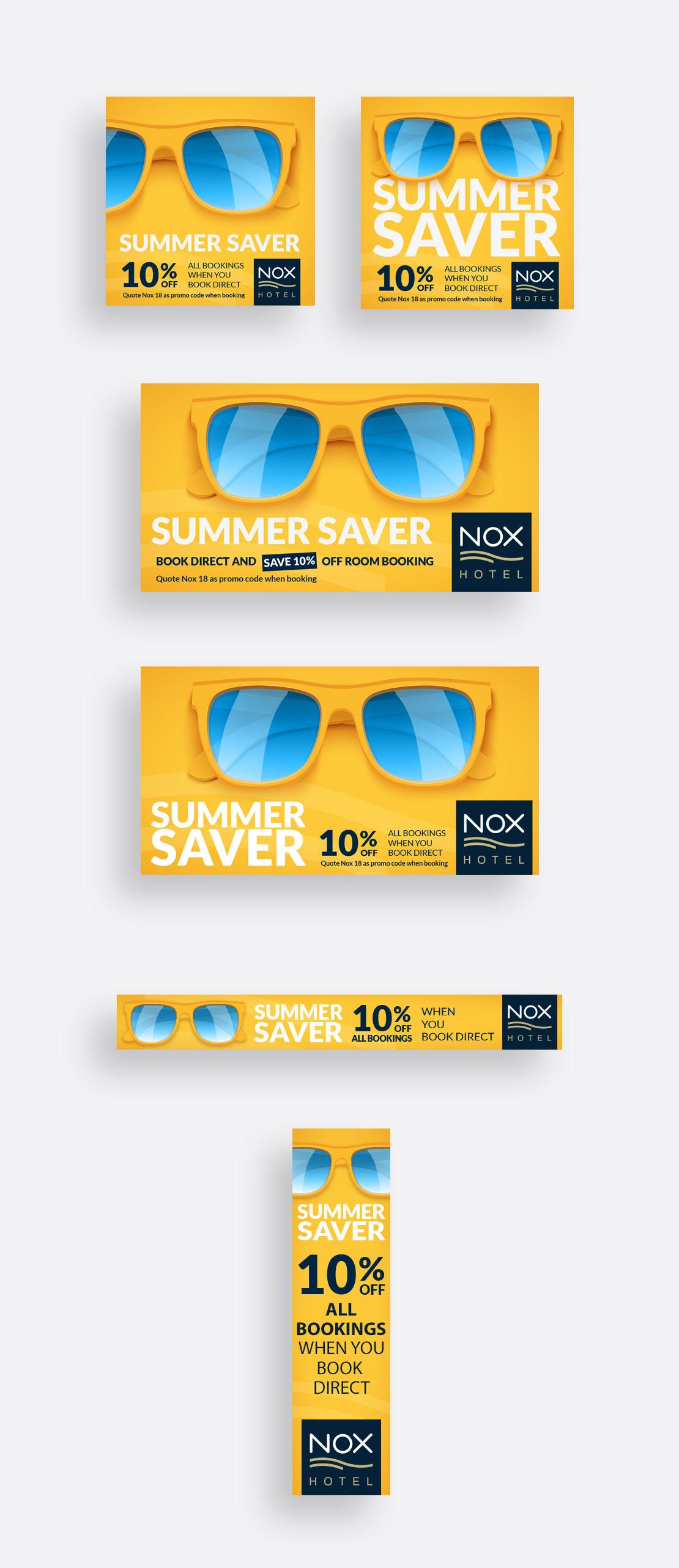Nox Hotel 'Summer Saver' social media and online advertising campaign
