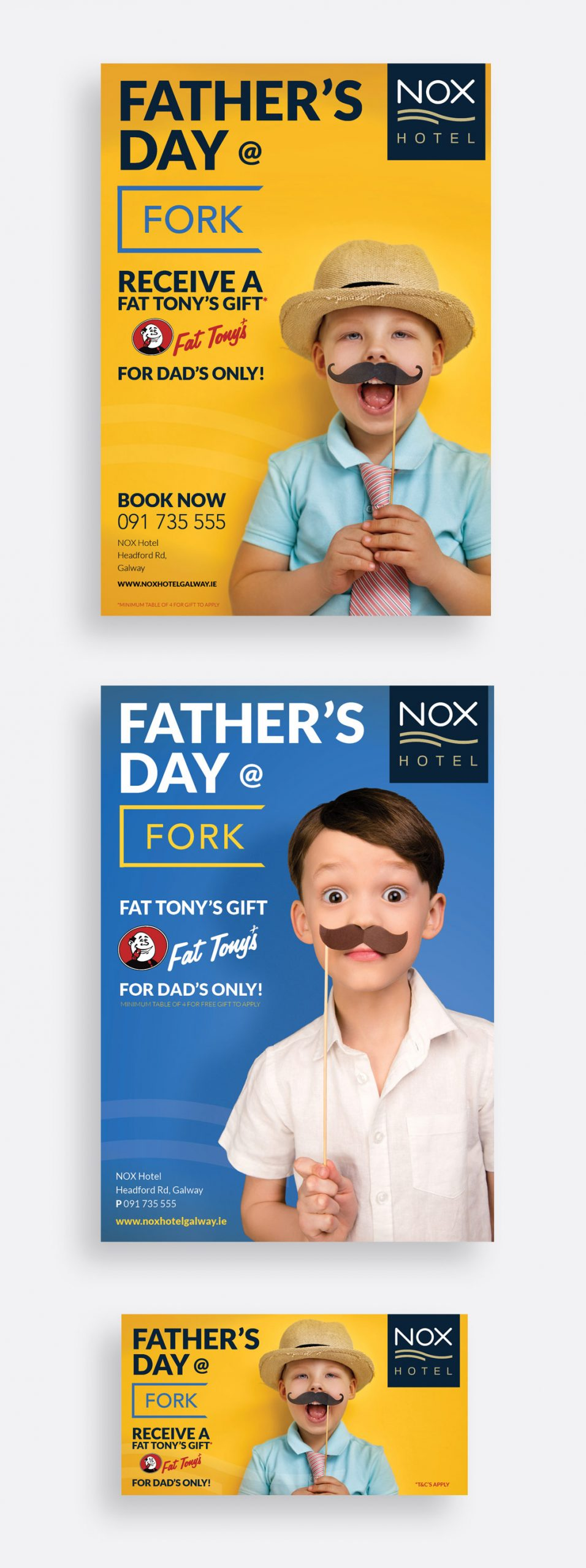 Nox Hotel Father's Day print and social media campaign