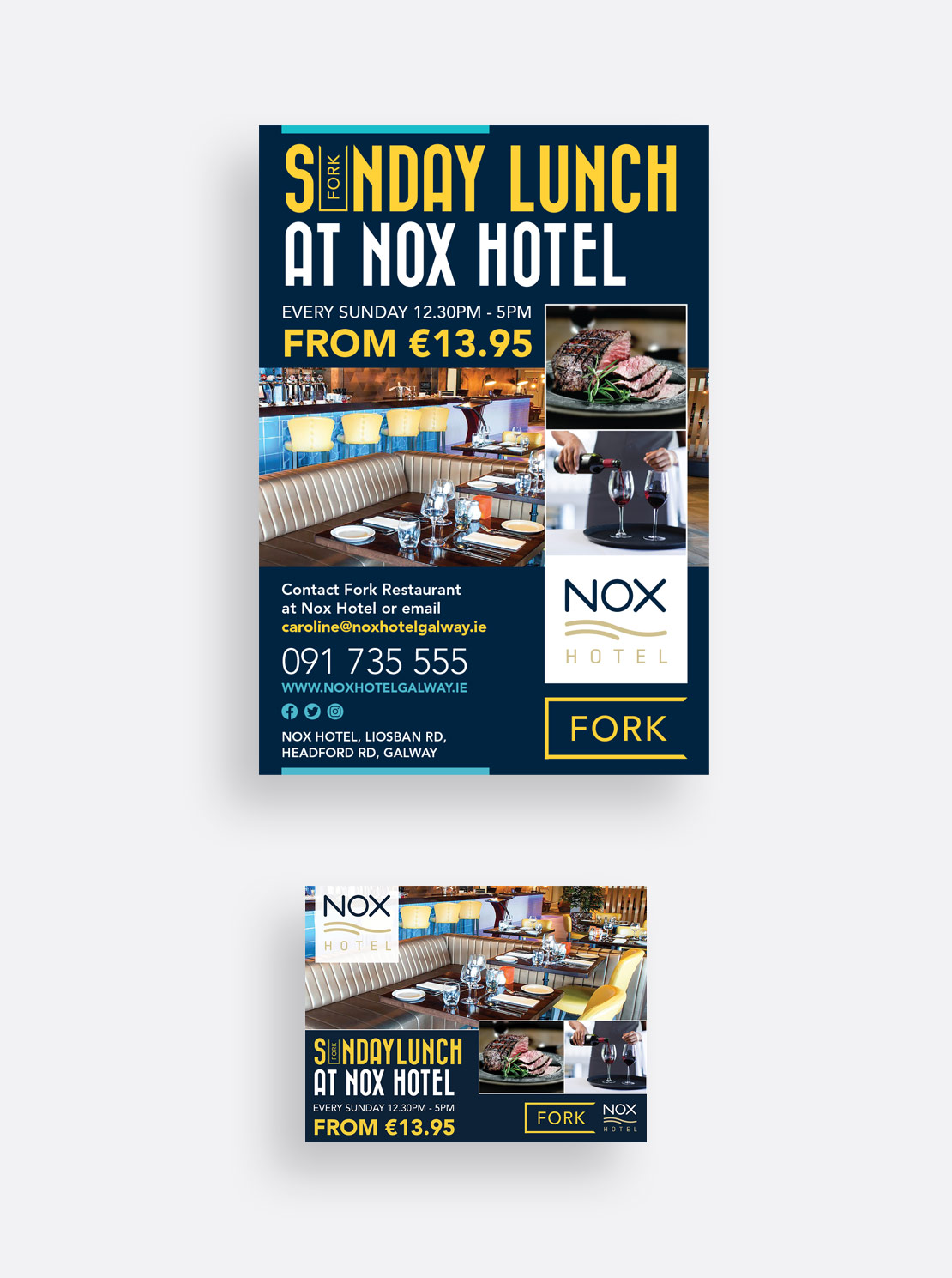 Nox Hotel 'Sunday Lunch' print and social media campaign