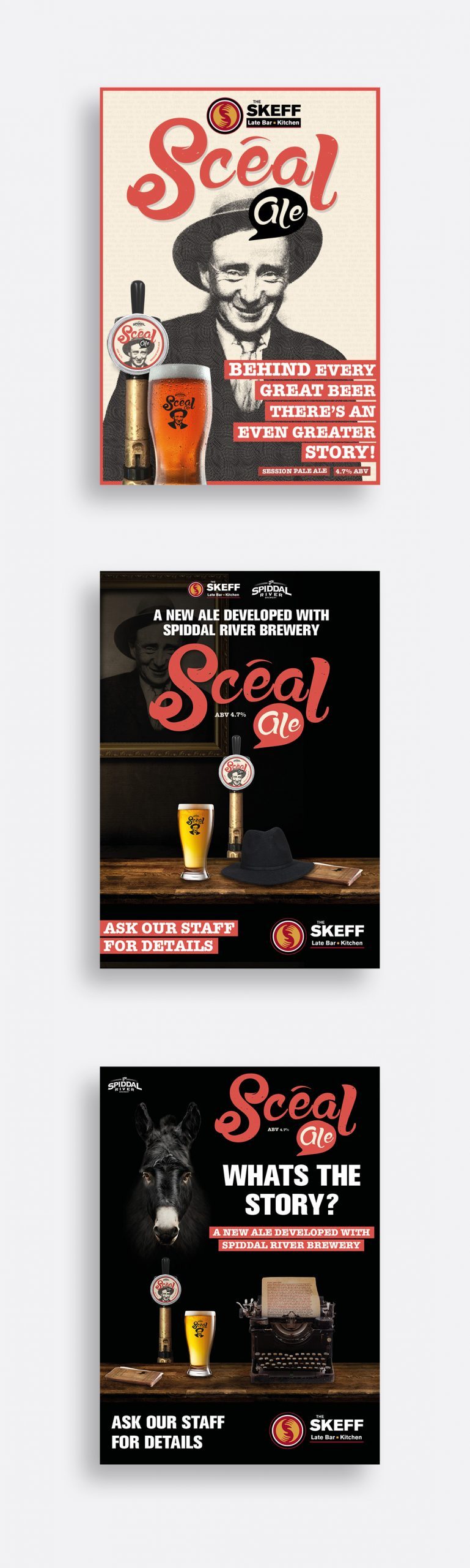 Scéal Ale promotional posters