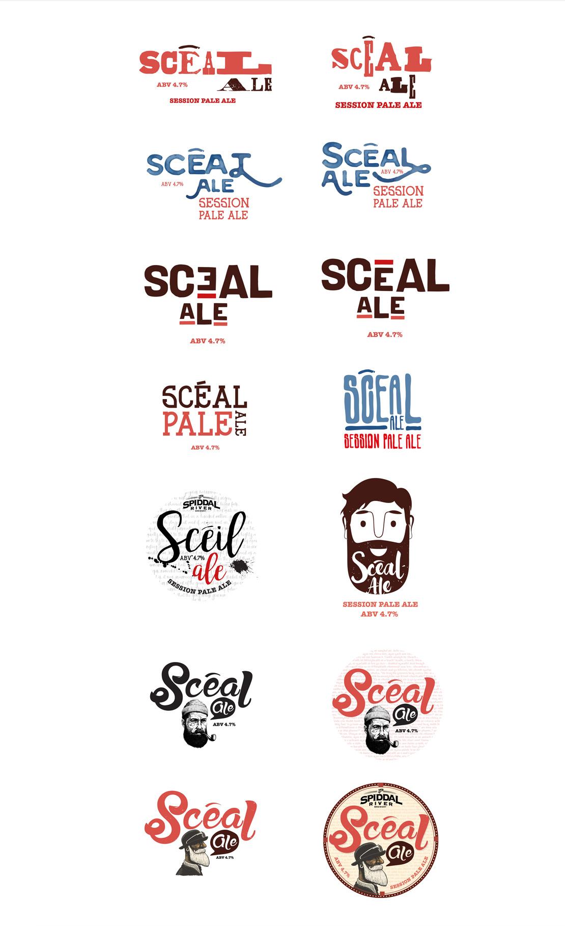 Scéal Ale concept logos