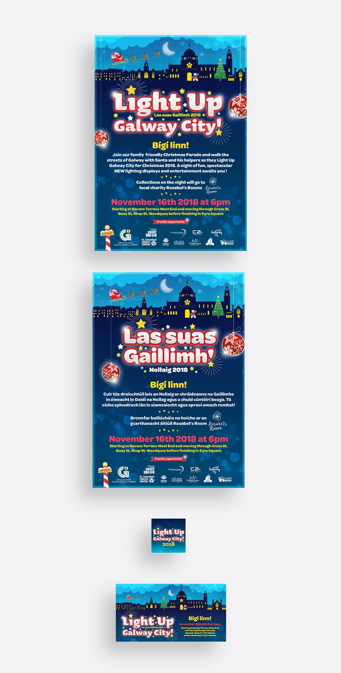 'Light Up Galway' posters and social media graphics